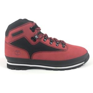Timberland Euro Hiker F/L Red Black Leather Boots